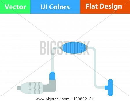 Flat Design Icon Of Auge