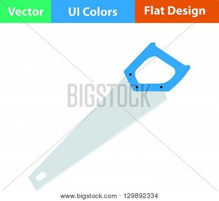 Flat Design Icon Of Hand Saw