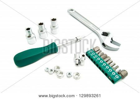 Various Heads And Adjustable Wrench