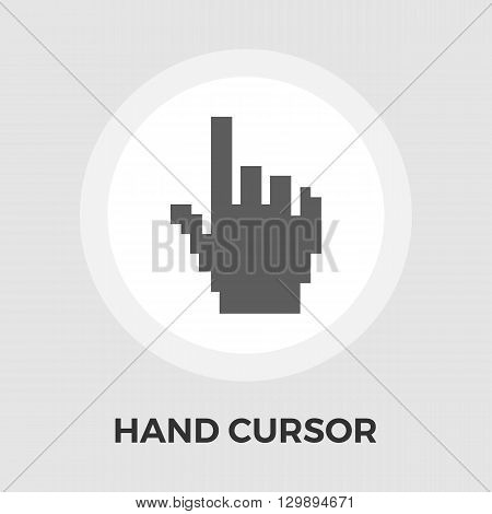 Hand cursor icon vector. Flat icon isolated on the white background. Editable EPS file. Vector illustration.