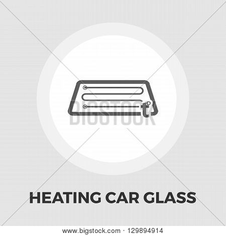 Heating automotive glass icon vector. Flat icon isolated on the white background. Editable EPS file. Vector illustration.