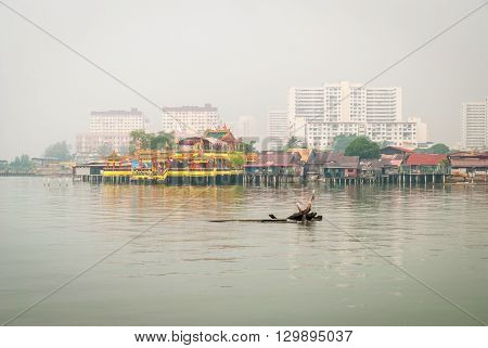 View On Jetty In George Town, Penang
