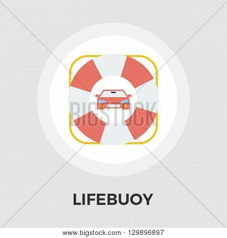 Lifebuoy icon vector. Flat icon isolated on the white background. Editable EPS file. Vector illustration.