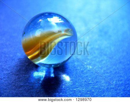 blaue Murmel