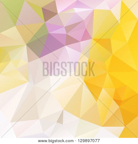 vector abstract irregular polygon background with a triangular pattern in bright white and yellow colors