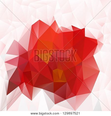 vector abstract irregular polygon background with a triangular pattern in hot red colors