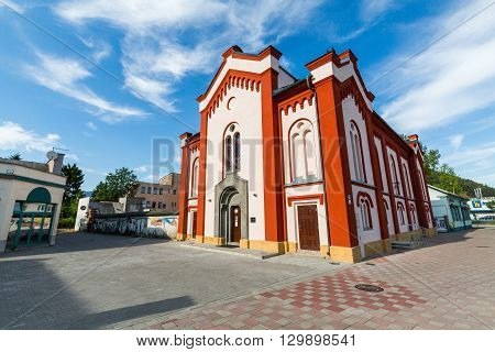 Extorior Of A Synagogue In Ruzomberok Slovakia In Summer