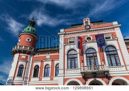 View To The Town Hall Of The City Of Ruzomberok, Slovakia
