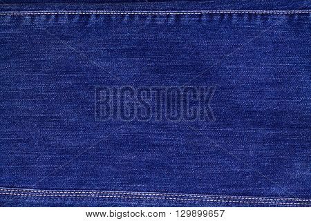 Jeans texture with seams background fabric clothing