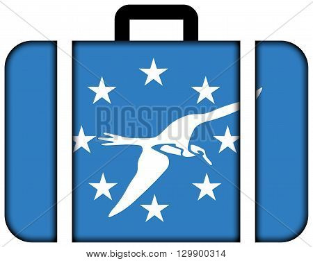 Flag Of Corpus Christi, Texas. Suitcase Icon, Travel And Transportation Concept