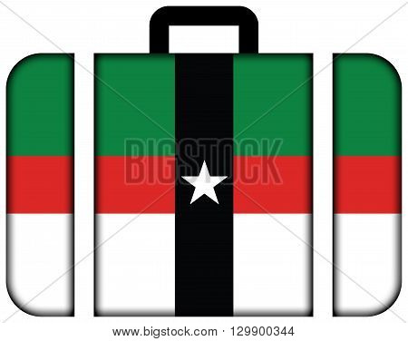 Flag Of Denison, Texas. Suitcase Icon, Travel And Transportation Concept