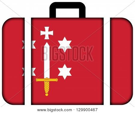 Flag Of Haarlem. Suitcase Icon, Travel And Transportation Concept