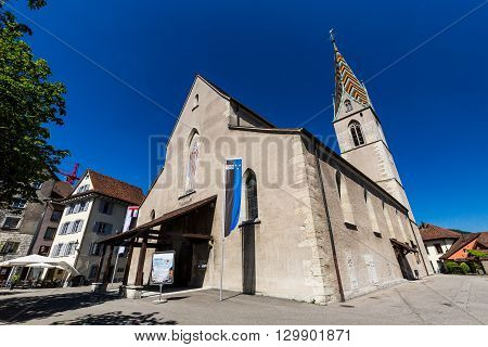 Exterior Views Of The Church In Old Town Part Of Baden