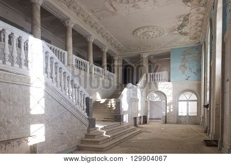 Interior of an abandoned hotel in Abkhazia