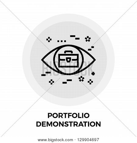 Portfolio Demonstration icon vector. Flat icon isolated on the white background. Editable EPS file. Vector illustration.