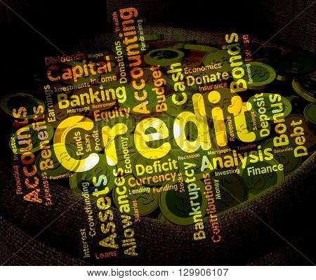 Credit Word Means Debit Card And Bankcard