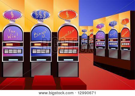 leere Geld Kasino innen Vektor