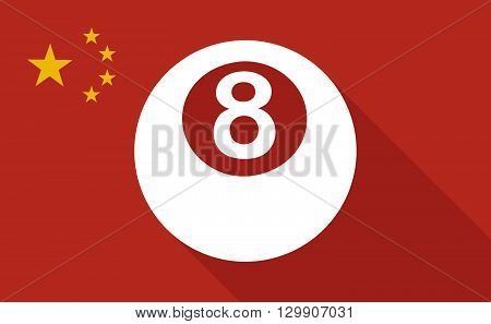 China Long Shadow Flag With   A Pool Ball