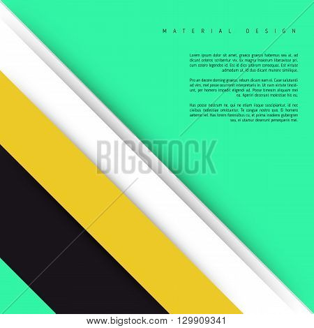 Illustration of unusual modern material design background. Modern template.