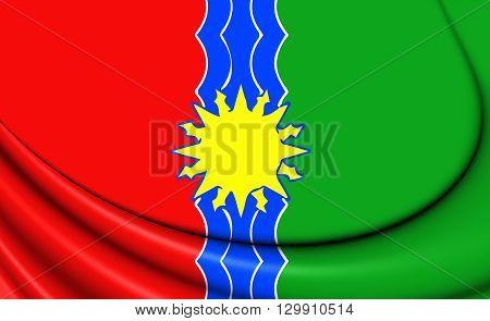 Flag Of Bratsk (irkutsk Oblast), Russia.