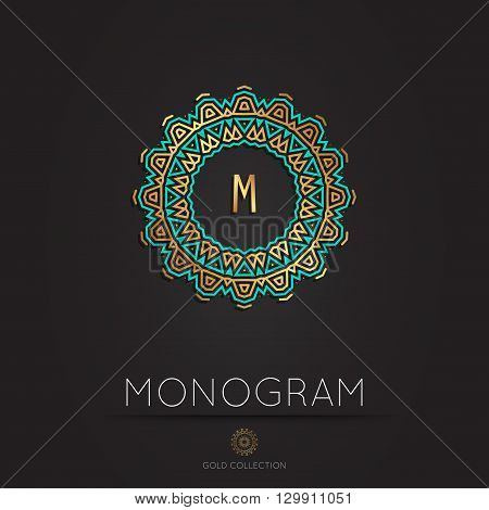 Royal Elegant linear abstract monogram, vector template. Hotel logo. Kings symbol.