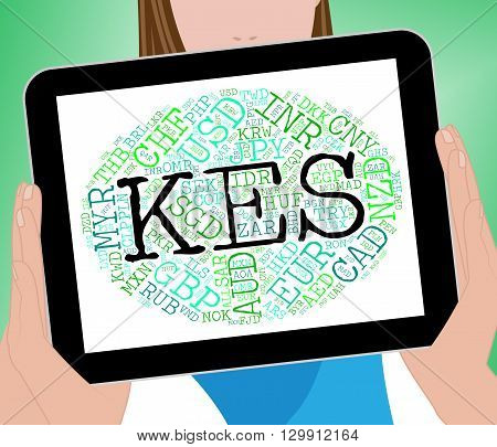 Kes Currency Represents Kenya Shilling And Broker
