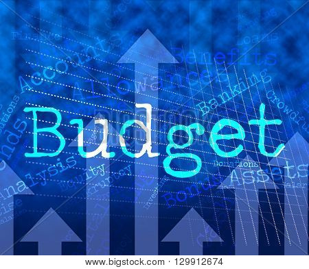 Budget Words Means Accounting Budgeting And Expenditure