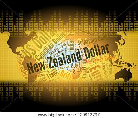 New Zealand Dollar Indicates Foreign Exchange And Currencies
