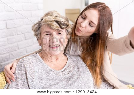 Selfie With Grandma To Share With All My Friends