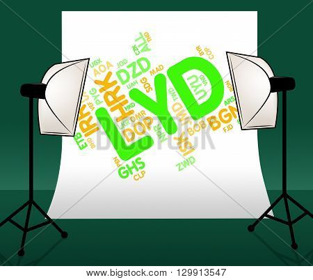 Lyd Currency Represents Worldwide Trading And Currencies