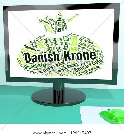 Danish Krone Represents Exchange Rate And Currency