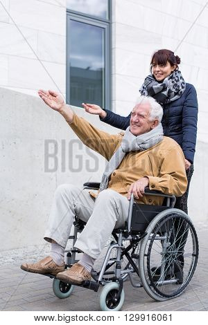 Disabled Man Spending Time Outdoors
