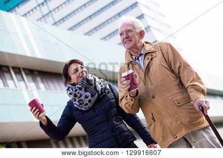 Senior Man With Coffee Cup