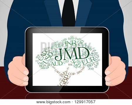 Jmd Currency Means Jamaican Dollars And Banknotes