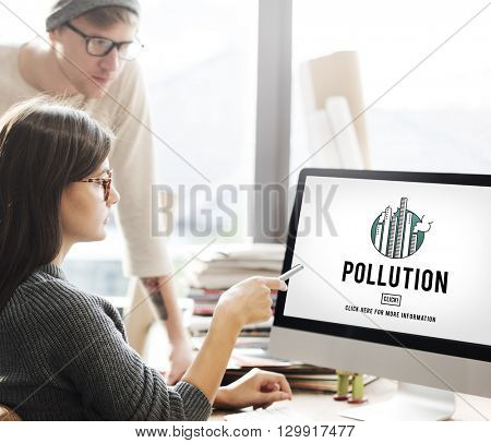 Pollution Emission Fog Hazard Mist Pollute Smog Concept