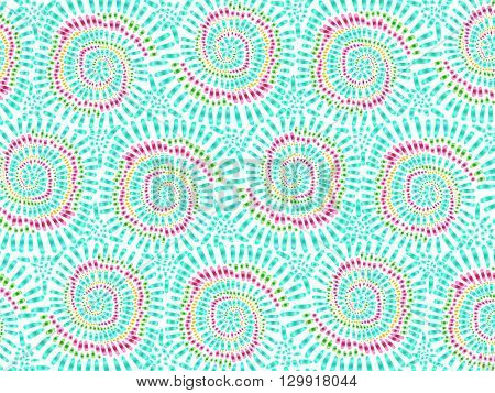 Boho Tie Dye Background Texture Watercolor Effect Vector Colorful 1