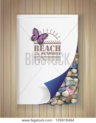 brochure with summer design. place for your text.
