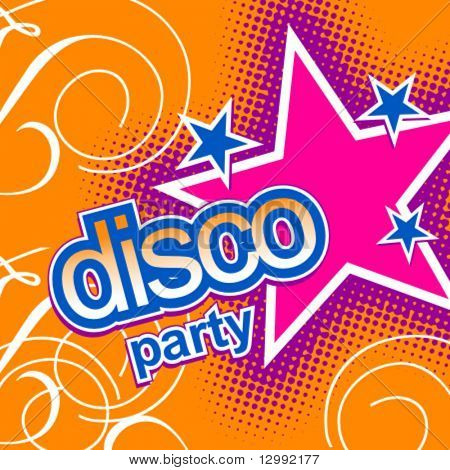 Disco party - vector