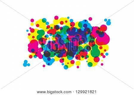 colored blots cmyk. Vector illustration. Suitable for graphic design