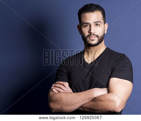 Casual Man On Blue