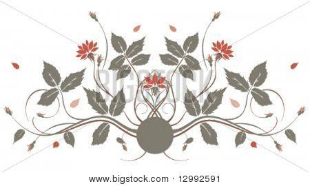 Vektor Blumendekor