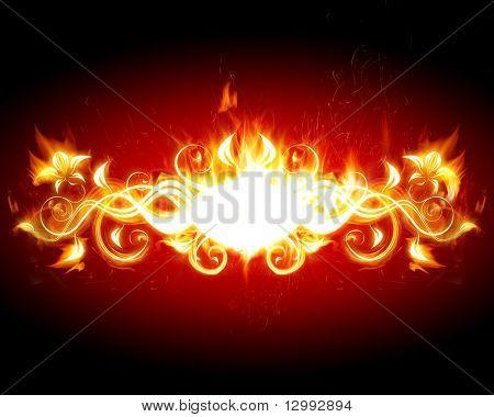Blazing floral frame