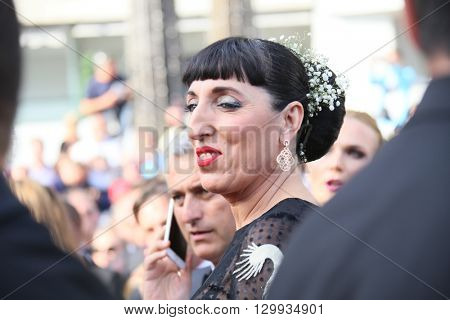 Rossy De Palma attends the screening of 'Loving' at the annual 69th Cannes Film Festival at Palais des Festivals on May 16, 2016 in Cannes, France.