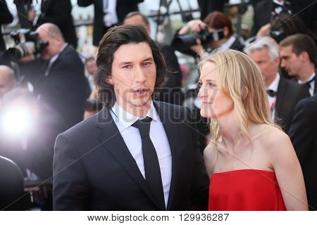 Joanne Tucker, Adam Driver attend 'Loving' premier during The 69th Annual Cannes Film Festival on May 16, 2016 in Cannes, France.