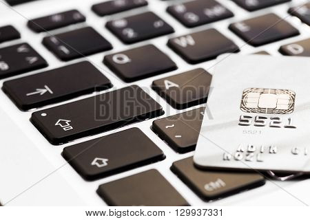 online shopping or internet shop concepts, with shopping credit cart