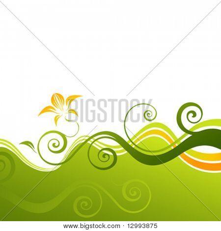 Grüne Blumen Hintergrund