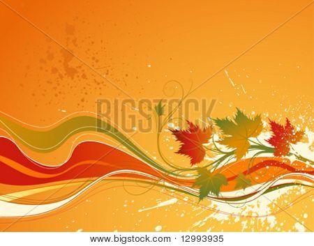 Autumn background. Four seasons series.