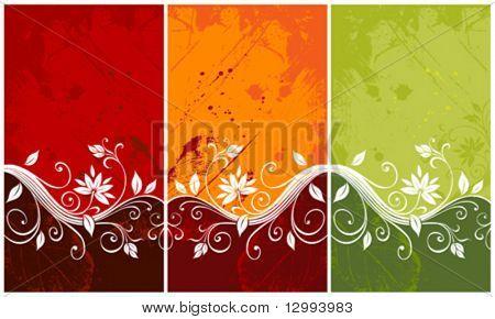 Bunte floral backgrounds