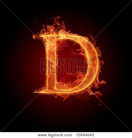 Fuente de fuego. Letra D