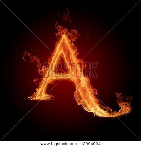 Fuente de fuego. Letra A